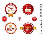 badges  labels and stickers... | Shutterstock .eps vector #133383554
