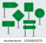 green traffic signs. road board ... | Shutterstock .eps vector #1333835570