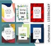 sale poster  modern promotion... | Shutterstock .eps vector #1333862669