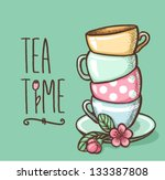 card with cups | Shutterstock .eps vector #133387808