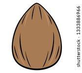 almond   a vector cartoon... | Shutterstock .eps vector #1333886966