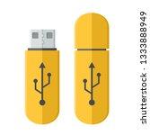 vector tech icon usb flash... | Shutterstock .eps vector #1333888949