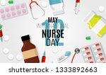 12 may international nurse day... | Shutterstock .eps vector #1333892663