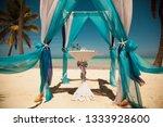 beach wedding and decoration. | Shutterstock . vector #1333928600