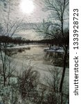 cedar river in waverly  iowa... | Shutterstock . vector #1333928723
