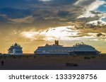 Two Huge Cruise Ships Moored I...