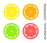 lemon  lime  orange ... | Shutterstock .eps vector #1333950056