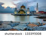 malacca straits mosque ... | Shutterstock . vector #133395008