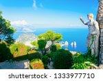 Statue And Gardens At Capri...
