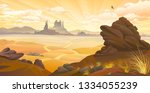 sunrise over the canyons with... | Shutterstock .eps vector #1334055239