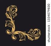 gold baroque ornament. retro... | Shutterstock .eps vector #1334079830