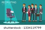 flat banner recruiting director ... | Shutterstock .eps vector #1334119799