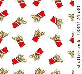 french fries. cartoon print.... | Shutterstock .eps vector #1334124530