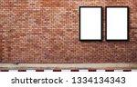 white billboard or poster... | Shutterstock . vector #1334134343