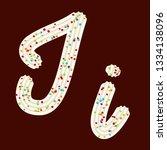 tempting typography. font... | Shutterstock .eps vector #1334138096