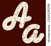 tempting typography. font... | Shutterstock .eps vector #1334139299