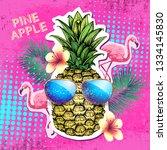 summer disco party poster... | Shutterstock .eps vector #1334145830