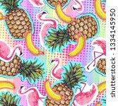 summer seamless bright pattern... | Shutterstock .eps vector #1334145950
