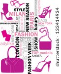 fashion words  tag or word... | Shutterstock .eps vector #133414934