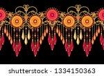 3d rendering. golden stylized... | Shutterstock . vector #1334150363