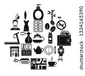 hairdressing salon icons set.... | Shutterstock .eps vector #1334165390