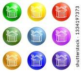 smart garage icons 9 color set...
