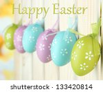 art easter background with eggs ... | Shutterstock . vector #133420814