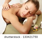 an attractive woman getting spa ... | Shutterstock . vector #133421750