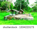 pumping system on green nature... | Shutterstock . vector #1334223173