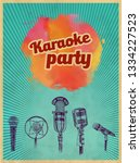 karaoke retro party invitation... | Shutterstock .eps vector #1334227523