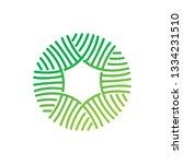 leaf logo design vector... | Shutterstock .eps vector #1334231510