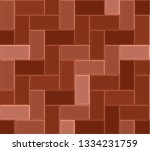 3d brick stone pavement  red... | Shutterstock .eps vector #1334231759