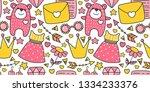 pattern for girls and girls.... | Shutterstock .eps vector #1334233376