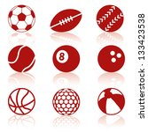 sport balls collection | Shutterstock .eps vector #133423538