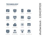 simple set of icons such as...   Shutterstock .eps vector #1334239520