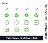 tick check mark icons set. ui...