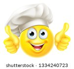 an emoji chef cook cartoon... | Shutterstock .eps vector #1334240723