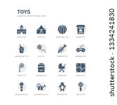 simple set of icons such as... | Shutterstock .eps vector #1334241830