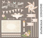 wedding   love   romance  ... | Shutterstock .eps vector #133424540