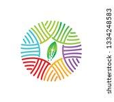 leaf logo design vector... | Shutterstock .eps vector #1334248583