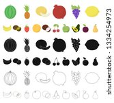 different fruits cartoon icons... | Shutterstock . vector #1334254973