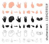 hand gesture cartoon icons in...   Shutterstock . vector #1334255519