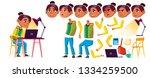 arab  muslim girl kid vector.... | Shutterstock .eps vector #1334259500