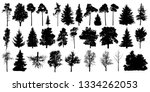 tree silhouette black vector.... | Shutterstock .eps vector #1334262053