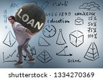concept of student loan and...   Shutterstock . vector #1334270369