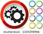 gear  cogwheel icon. repair ... | Shutterstock .eps vector #1334298986