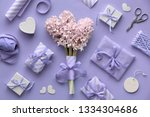 springtime lilac colored... | Shutterstock . vector #1334304686