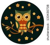 cute owl vector illustration.   Shutterstock .eps vector #133430738