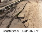 landslide caused by rains of... | Shutterstock . vector #1334307779