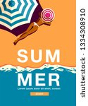 summer holiday  poster design  | Shutterstock .eps vector #1334308910